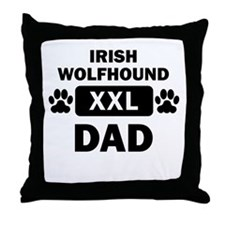 Irish Wolfhound Dad Throw Pillow