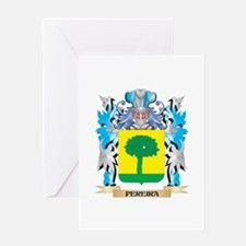 Pereira Coat of Arms - Family Crest Greeting Cards