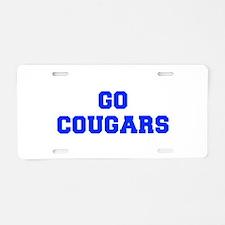 Cougars-Fre blue Aluminum License Plate