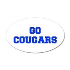 Cougars-Fre blue Wall Decal