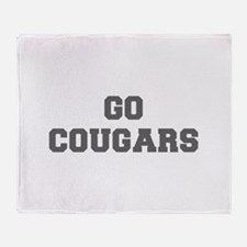 COUGARS-Fre gray Throw Blanket