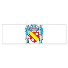 Peroni Coat of Arms - Family Crest Bumper Car Sticker