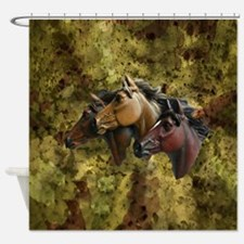 Horse Trio Shower Curtain