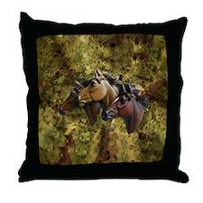 Horse Trio Throw Pillow