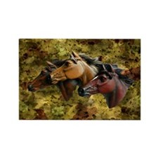 Horse Trio Rectangle Magnet