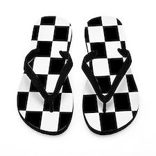 Classic Black Checkered Flag Flip Flops