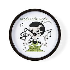 Greek Girls Rock Wall Clock