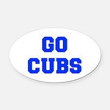 Cubs-Fre blue Oval Car Magnet