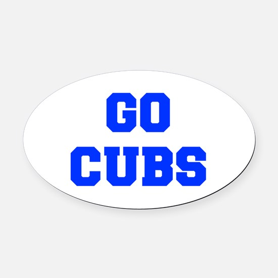 Cubs-Fre blue Oval Car Magnet