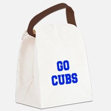 Cubs-Fre blue Canvas Lunch Bag