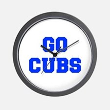 Cubs-Fre blue Wall Clock