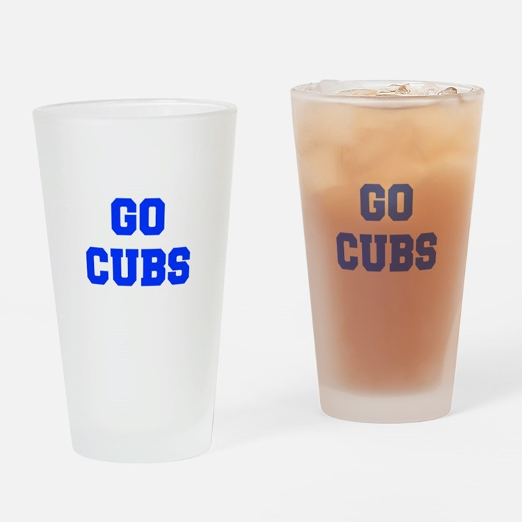 Cubs-Fre blue Drinking Glass