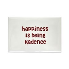 happiness is being Kadence Rectangle Magnet