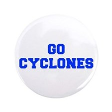 "Cyclones-Fre blue 3.5"" Button"