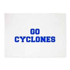 Cyclones-Fre blue 5'x7'Area Rug