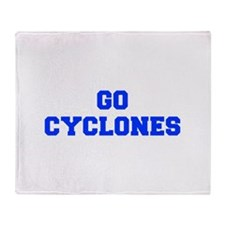 Cyclones-Fre blue Throw Blanket