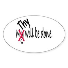 Thy Will Be Done Oval Decal