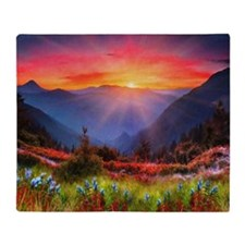 High Country Sunset Throw Blanket