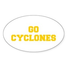 Cyclones-Fre yellow gold Decal
