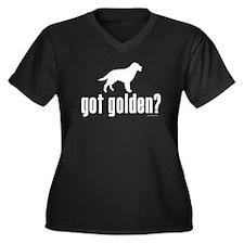 got golden? Women's Plus Size V-Neck Dark T-Shirt