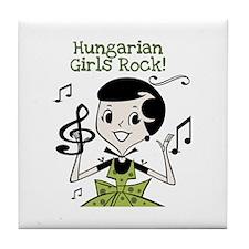 Hungarian Girls Rock Tile Coaster