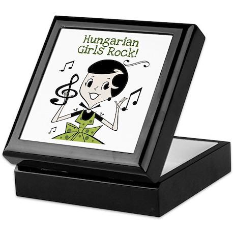 Hungarian Girls Rock Keepsake Box