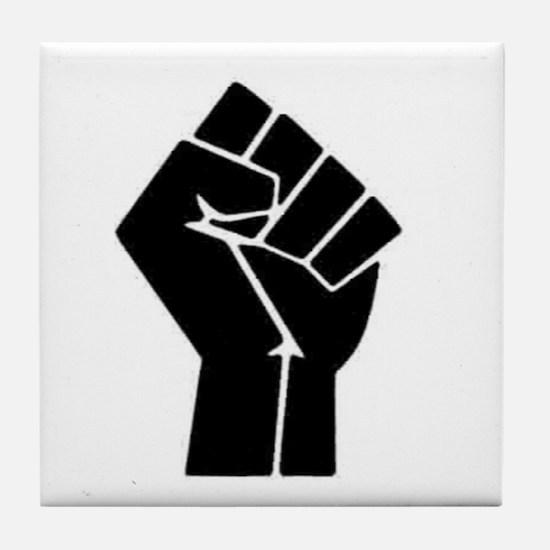 Black Power Tile Coaster