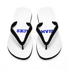 diamondbacks-Fre blue Flip Flops