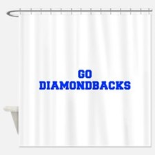 diamondbacks-Fre blue Shower Curtain