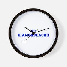 diamondbacks-Fre blue Wall Clock