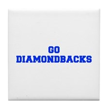 diamondbacks-Fre blue Tile Coaster