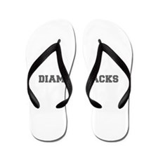 DIAMONDBACKS-Fre gray Flip Flops