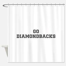 DIAMONDBACKS-Fre gray Shower Curtain