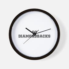 DIAMONDBACKS-Fre gray Wall Clock
