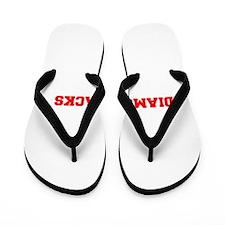 DIAMONDBACKS-Fre red Flip Flops