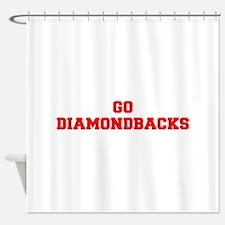 DIAMONDBACKS-Fre red Shower Curtain
