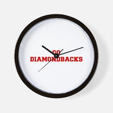 DIAMONDBACKS-Fre red Wall Clock