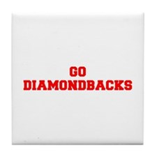 DIAMONDBACKS-Fre red Tile Coaster