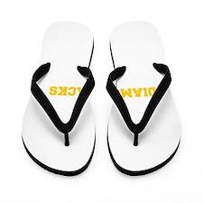 diamondbacks-Fre yellow gold Flip Flops