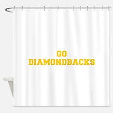 diamondbacks-Fre yellow gold Shower Curtain