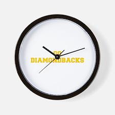 diamondbacks-Fre yellow gold Wall Clock