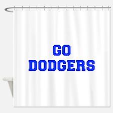 dodgers-Fre blue Shower Curtain