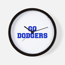 dodgers-Fre blue Wall Clock