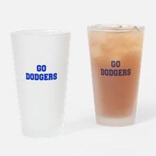 dodgers-Fre blue Drinking Glass