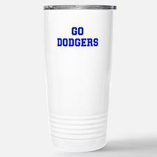 dodgers-Fre blue Travel Mug