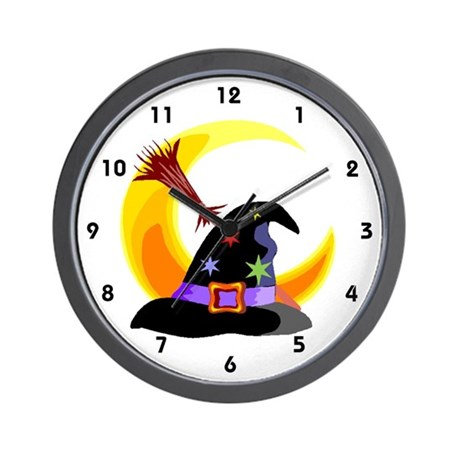 Witch's Hat Wall Clock