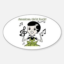 Jamaican Girls Rock Oval Decal