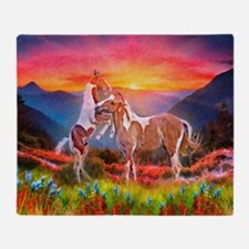 High Country Horses Throw Blanket