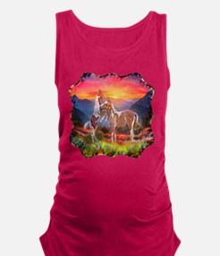 High Country Horses Maternity Tank Top
