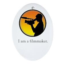 i am a filmmaker Oval Ornament